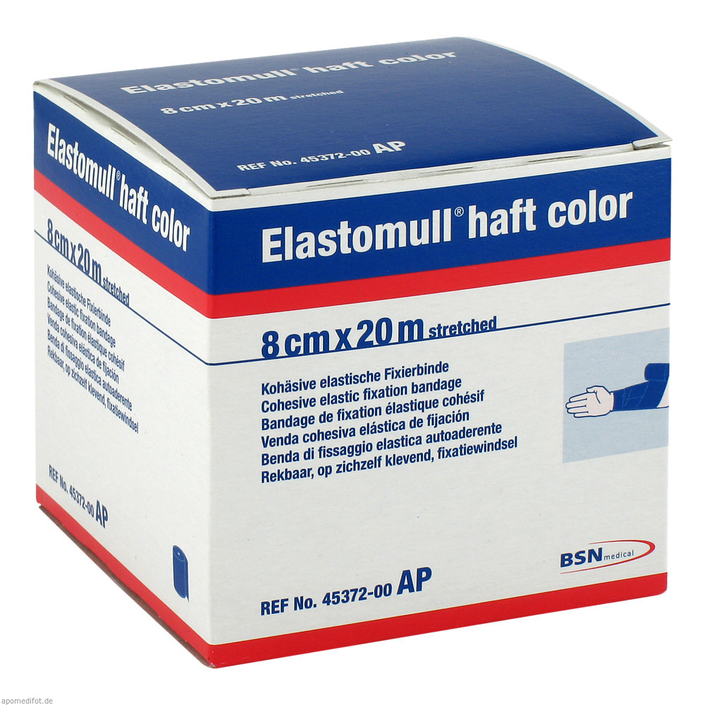 Elastomull haft color 20 m x 8 cm blau von BSN medical GmbH