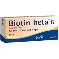 Biotin Beta 5 Tabletten von Beta