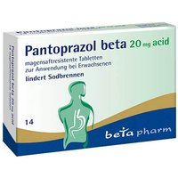 Pantoprazol beta 20 mg acid magensaftresistent Tabletten von Beta