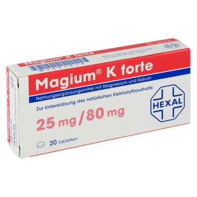 medikament magium k forte tabletten 20 st pzn 02881619 im preisvergleich. Black Bedroom Furniture Sets. Home Design Ideas