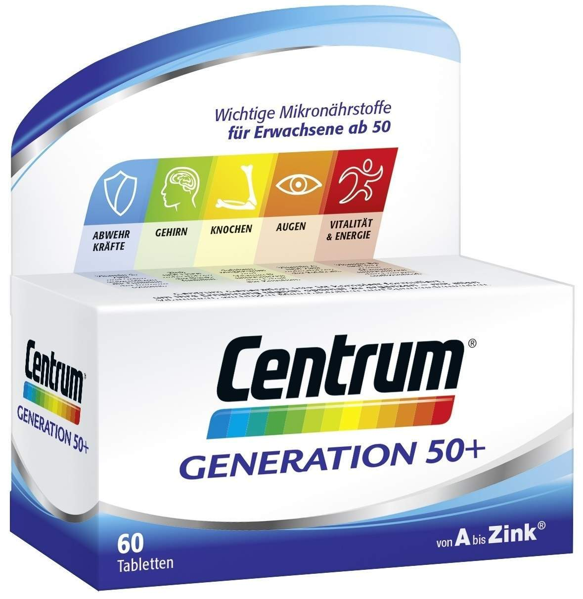 Centrum Generation 50+ 60 Tabletten von Pfizer Consumer Healthcare