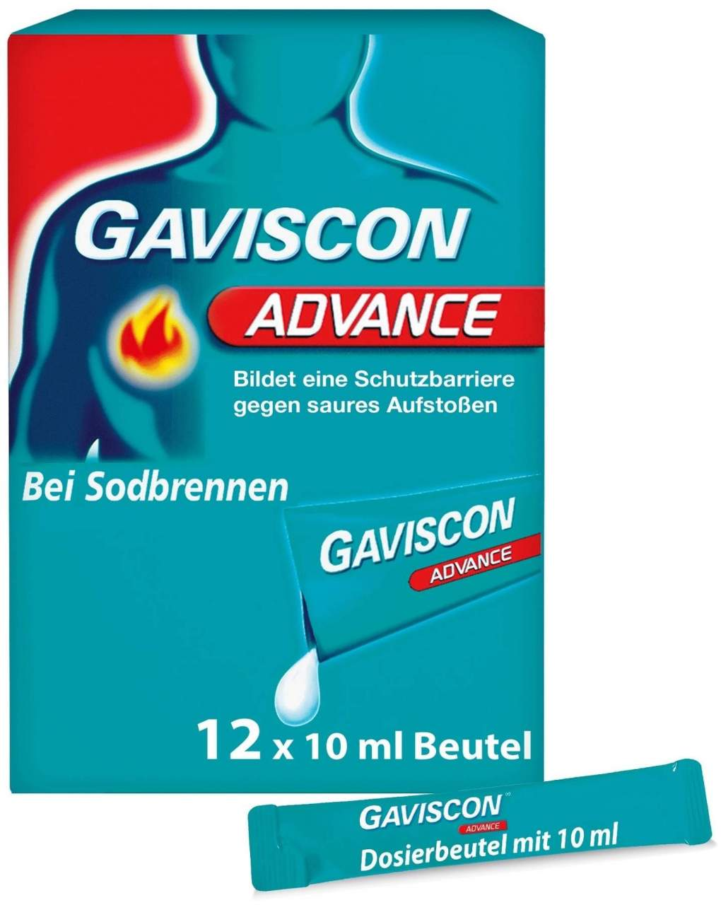Gaviscon Advance Pfefferminz 12 x 10 ml Suspension von Reckitt Benckiser Deutschla