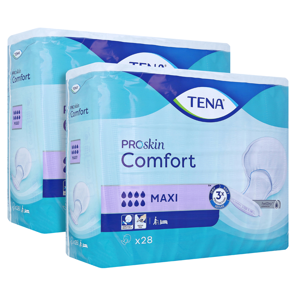 TENA COMFORT maxi Vorlagen 2x28 Stück von Essity Germany GmbH Health and Medical Solutions