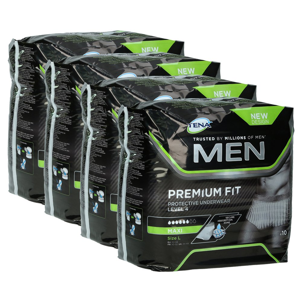 TENA MEN Level 4 Premium Fit Prot.Underwear L 4x10 Stück von Essity Germany GmbH Health and Medical Solutions