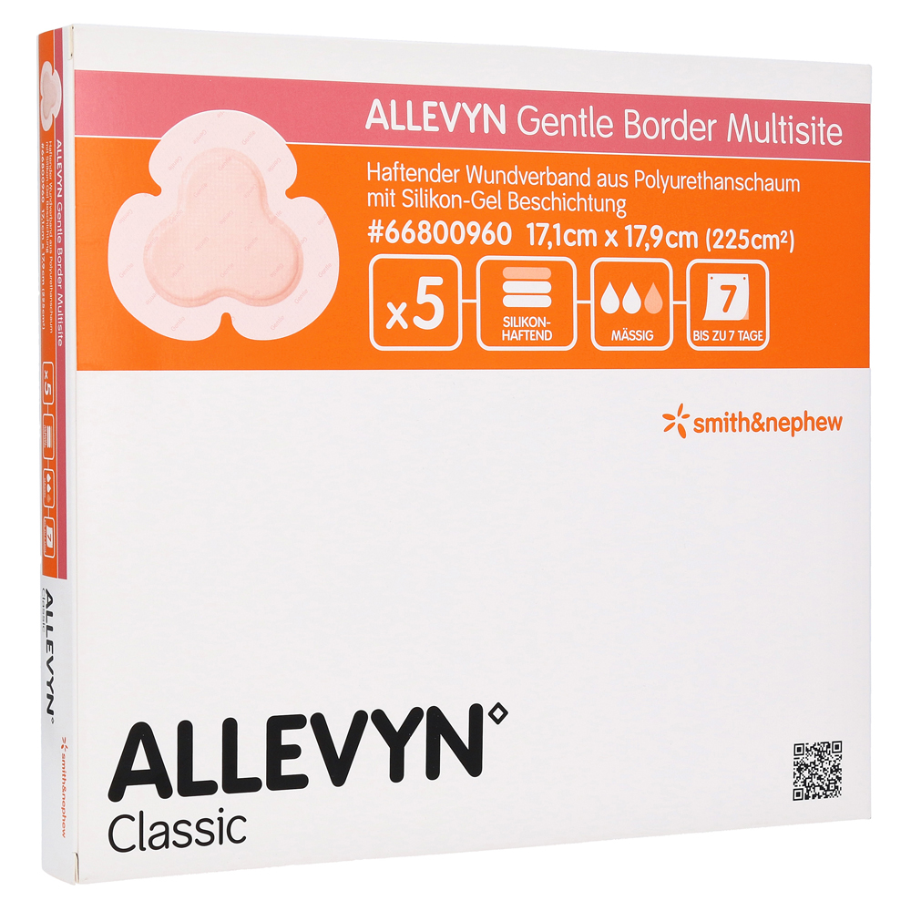 ALLEVYN Gentle Border Multisite 17,1x17,9 cm SV sk 5 Stück von Smith & Nephew GmbH Woundmanagement