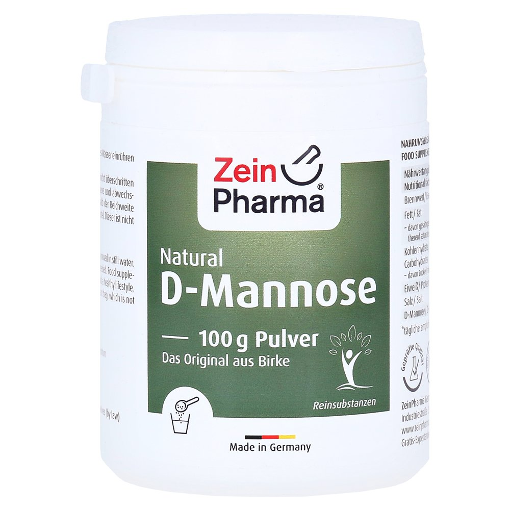 NATURAL D-Mannose Powder 100 Gramm von Zein Pharma - Germany GmbH