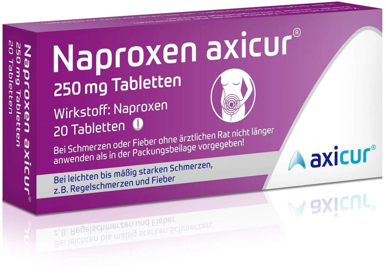 Naproxen axicur 250 mg 20 Tabletten von axicorp Pharma GmbH