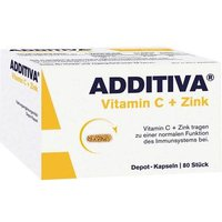 Additiva Vitamin C + Zink Depotkapseln Aktionspackung