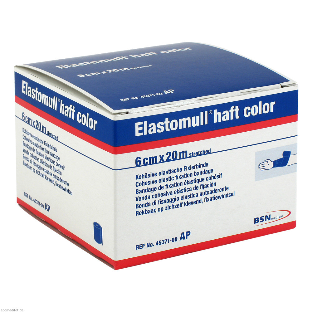 Elastomull haft color 20 m x 6 cm, blau von BSN medical GmbH