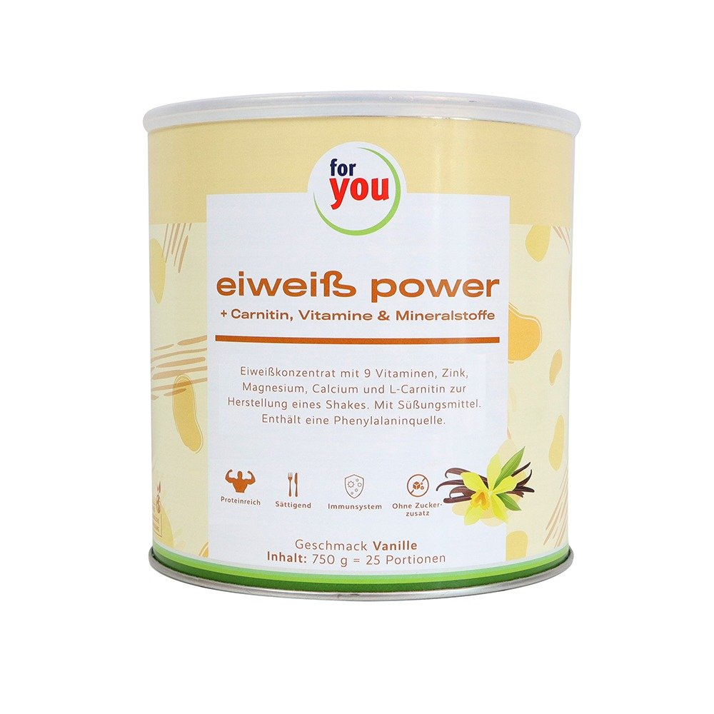FOR YOU Eiweiß power Vanille 750 g von For You eHealth GmbH