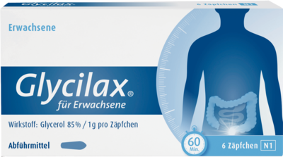 GLYCILAX Suppositorien fr Erwachsene 6 St