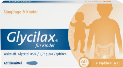 GLYCILAX Suppositorien fr Kinder 6 St