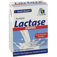 Lactase 28.000 FCC Tabletten im Spender
