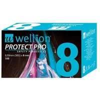 Wellion Protect Pro Safety Pen-Needles 30 G 8 mm