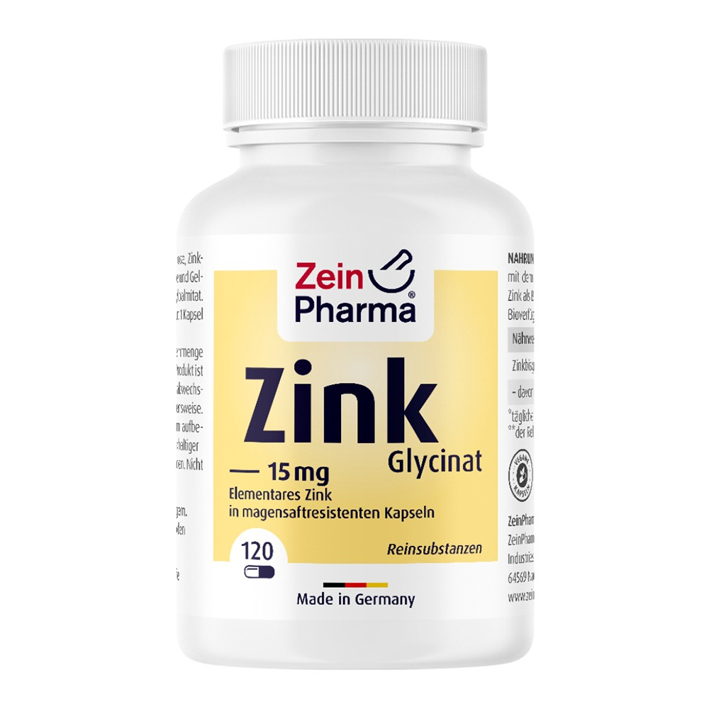 ZINK Chelat 15 mg in magensaftresist.veg