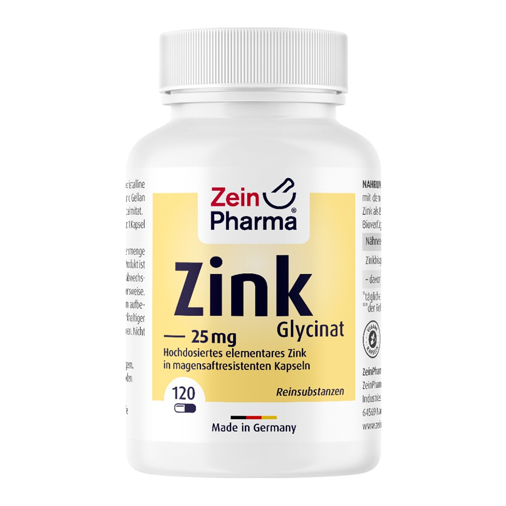 ZINK Chelat 25 mg in magensaftresist.veg