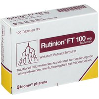 Rutinion Ft 100 mg Tabl. von biomo pharma