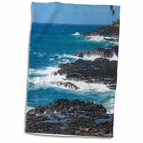 3D Rose Hawaii Rock and Sea TWL_23535_1 Handtuch, 38,1 x 55,9 cm von 3dRose