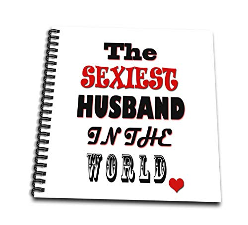 3dRose db_261323_3 The Sexiest Husband In The World I Love You Happy Marriage Mini Notepad 4x4 von 3dRose