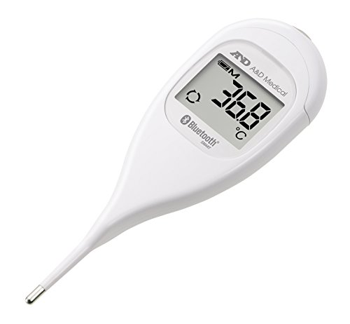 A&D Medical UT-201BLE Medical Thermometer mit Verbindung Bluetooth Low Energy BLE Weiß von A&D Medical