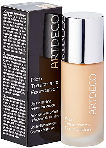 ARTDECO Rich Treatment Foundation, Flüssiges Creme Make-up, Nr. 10, sunny shell von Artdeco