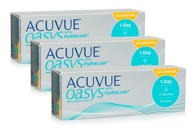 Acuvue Oasys 1-Day with HydraLuxe for Astigmatism, 90er Pack von Acuvue Kontaktlinsen