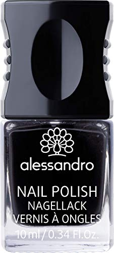 alessandro Nagellack 77 Midnight Black, 1er Pack (1 x 10 ml) von alessandro