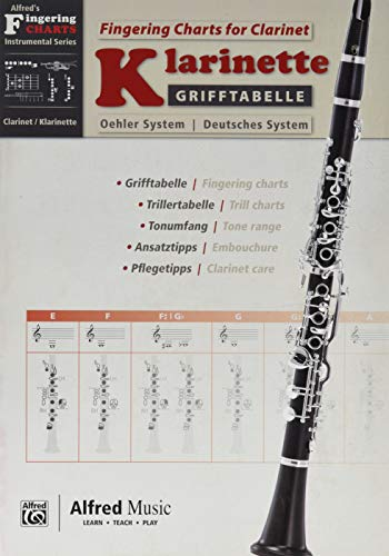Alfred's Fingering Charts Instrumental Series: Grifftabelle Klarinette Deutsches System | Fingering Charts Bb-Clarinet Oehler System | Klarinette | Buch: German / English Language Edition, Chart von Alfred Music