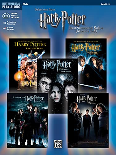 Harry Potter Movies 1-5, w. Audio-CD, for Flute (Harry Potter Instrumental Solos (Movies 1-5): Level 2-3) von Alfred Music
