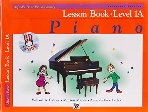 LESSON BOOK LEVEL 1A UNIVERSAL EDITION: Book & CD (Alfred's Basic Piano Library) von Alfred Music