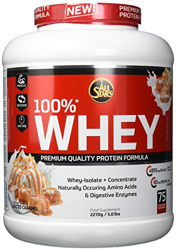 All Stars 100% Whey Protein, Salted-Caramel, 1er Pack (1 x 2270 g) von All Stars