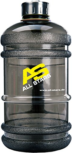 All Stars Drink Bottle 2.2 Liter, transparent schwarz von All Stars