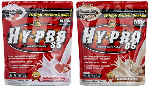 All stars Hy-Pro 85 Beutel 2er Mix Pack (2 x 500 g) Erdbeere/Cinamon-Oatmeal, 1er Pack (1 x 1 kg) von All Stars