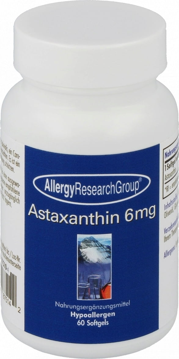 Allergy Research Group Astaxanthin 6 mg - 60 Softgels von Allergy Research Group