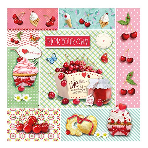 Lunch Servietten Red cherrys 20 Stck. 33x33 cm von Ambiente