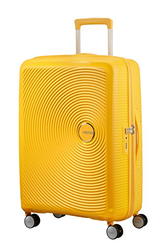 American Tourister - Soundbox Spinner Erweiterbar, 67cm, 71,5/81 L - 3,7 KG, Gelb (Golden Yellow) von American Tourister