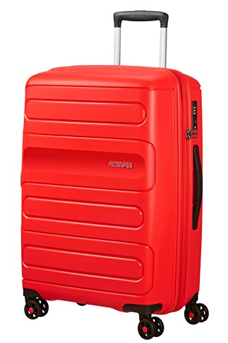 American Tourister Sunside Spinner 68 Erweiterbar, 3.7 KG, 72.5/83.5L, Rot (Sunset Red) von American Tourister