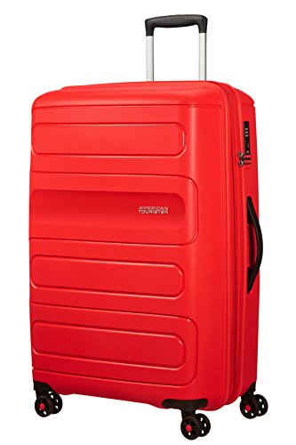 American Tourister Sunside Spinner 77 Erweiterbar, 4.5 KG, 106/118L, Rot (Sunset Red) von American Tourister