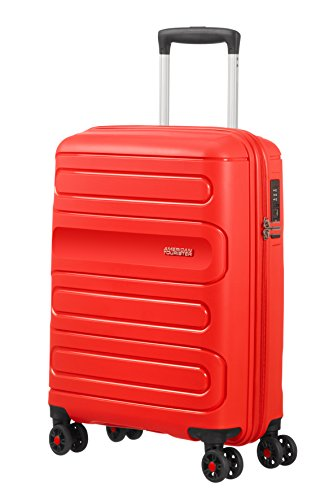 American Tourister Sunside Spinner Koffer, 55 cm, 35 Liter, Sunset Red von American Tourister