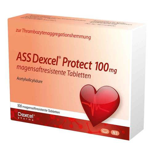 ASS Dexcel Protect 100 mg magensaftresistent Tabletten von Ass Dexcel