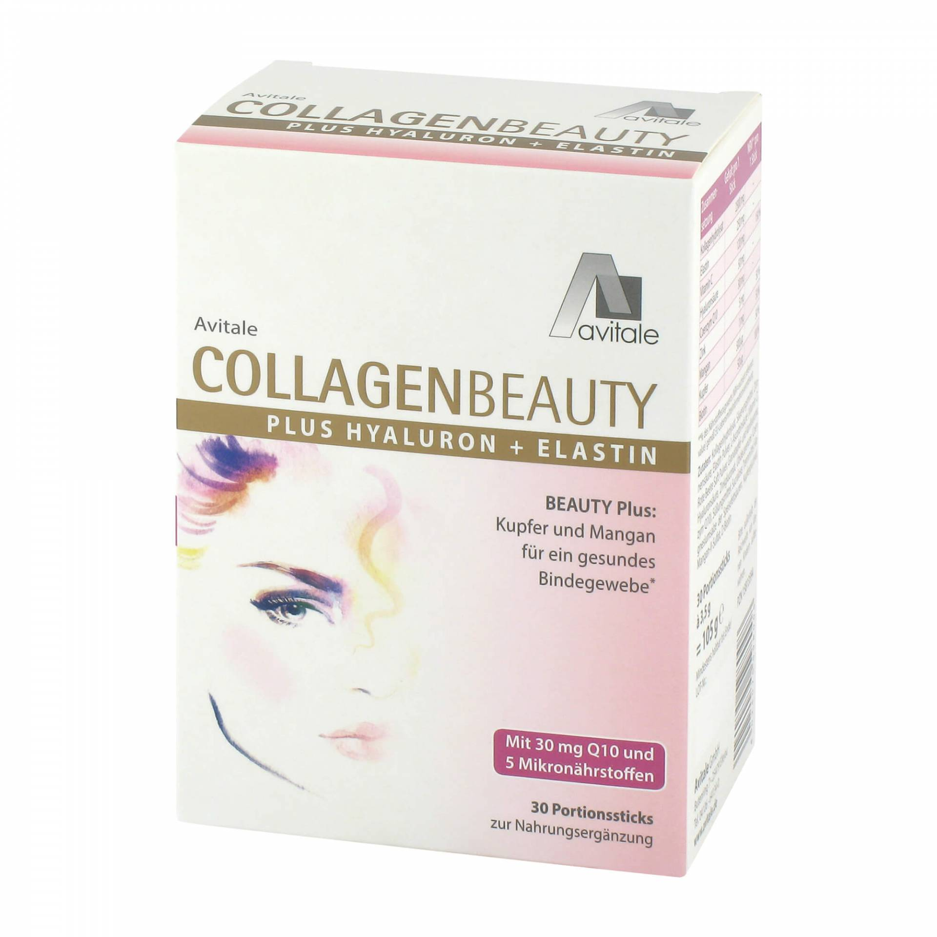 Collagenbeauty plus Hyaluron + Elastin Sticks von Avitale GmbH