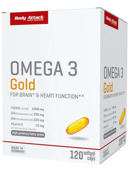 Body Attack Omega 3 Gold, 120 Softgel Kapseln von BODY ATTACK