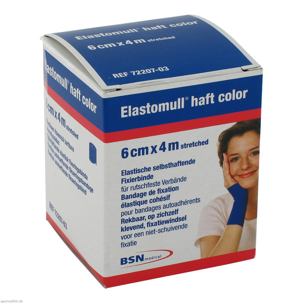 Elastomull haft color 4 m x 6 cm blau von BSN medical GmbH