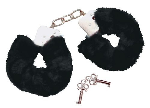 Bad Kitty Handcuffs black mit Plüsch von Bad Kitty