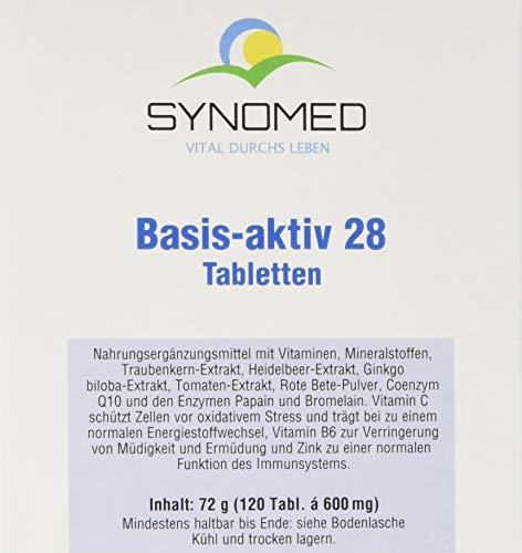 SYNOMED Basis-aktiv 28 Tabletten, 72 g von SYNOMED