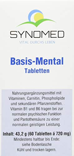 Basis-Mental Tabletten, 60 Tabletten (43.2 g) von SYNOMED