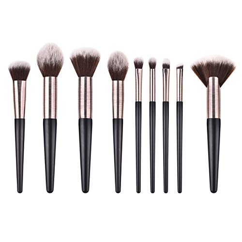 Beaupretty 9 Stück Kosmetik Pinsel Set Holzgriff Nylon Beauty Brush Make-Up Liefert für Frauen Damen von Beaupretty