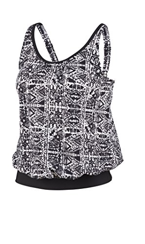 Beco Beermann Damen Top, C-Cup Mix It Tankini, Weiß/Schwarz, 38 von Beco