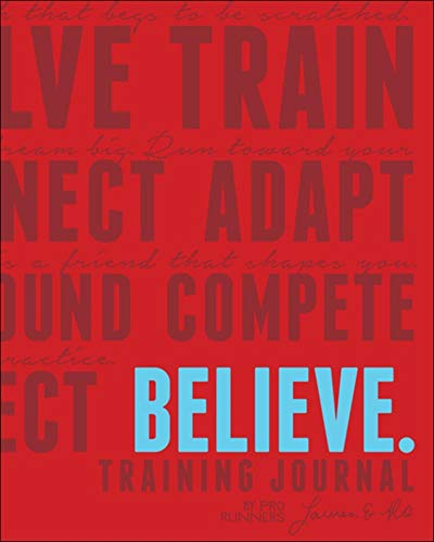 Believe Training Journal Classic Red von VeloPress