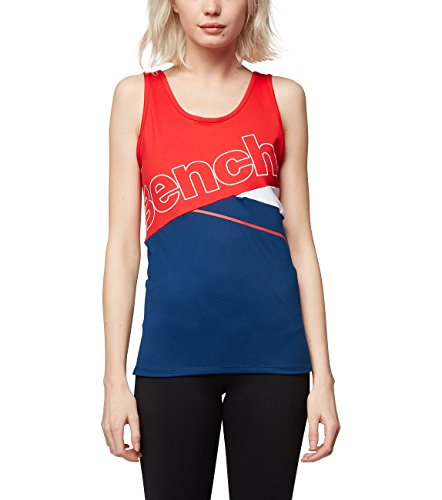 Bench Damen Colorbloc Logo Tanktop, Navy Blue, XS von Bench